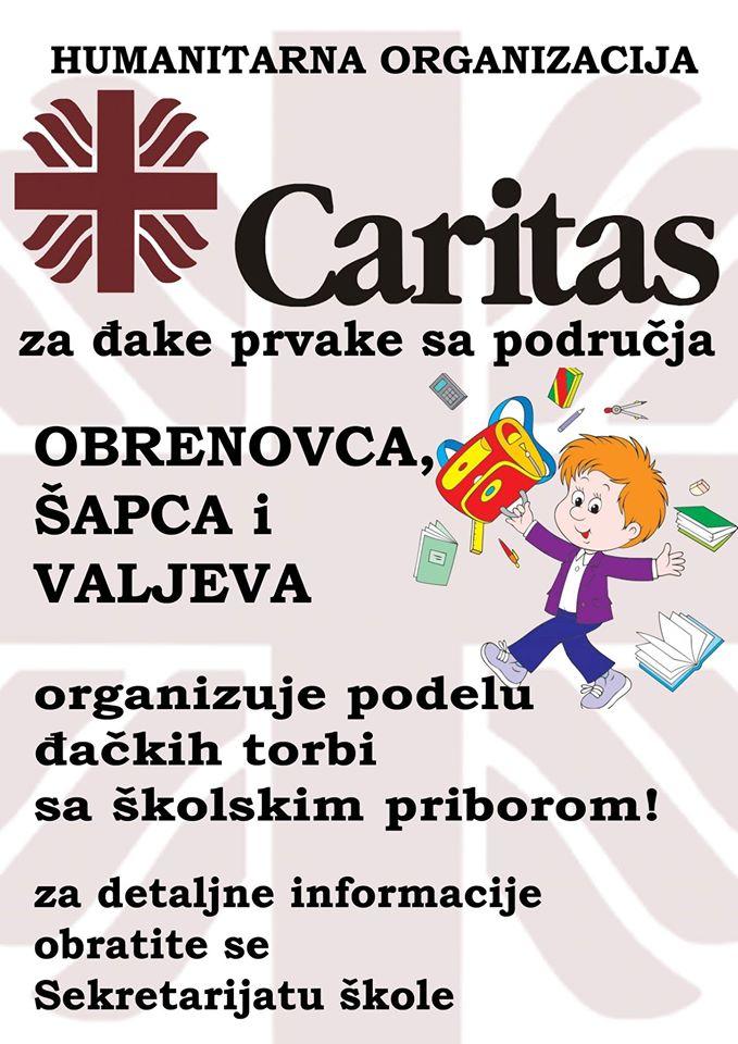 Podela školskog pribora Caritas
